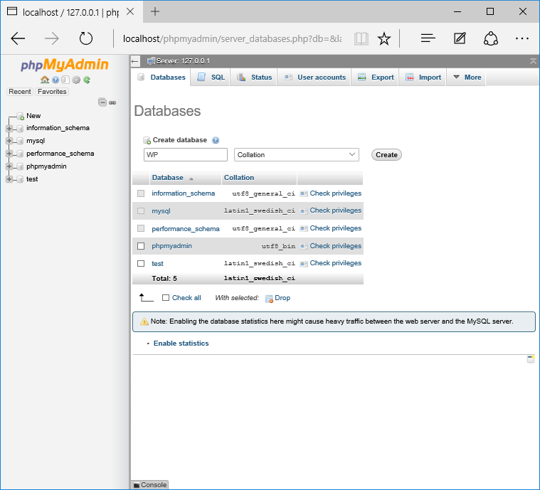 Quickly and easily set up a new MySQL database for WordPress.