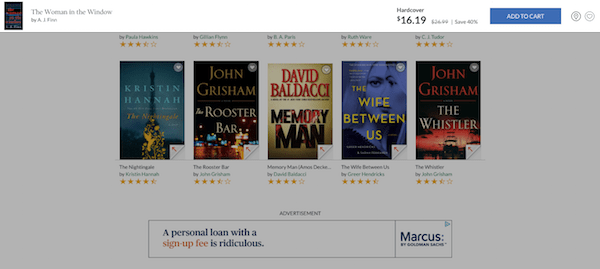 Barnes and Noble eCommerce Product Page Scroll