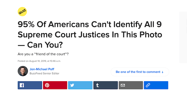 A BuzzFeed article that you'd have trouble resisting if you were interested in the topic