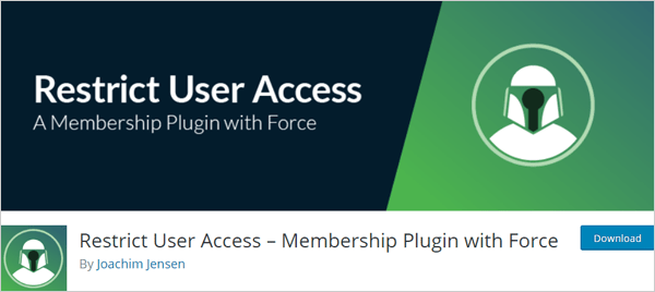 Restrict User Access – Membership Plugin with Force