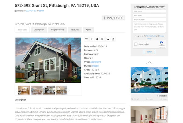 an example of a property page using this plugin